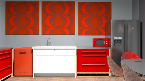 Retro kitchen/dining - Retro - Kitchen - by emma12