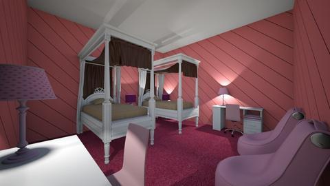 VERY pink bedroom - Kids room  - by CW THE HARRY POTTER FAN