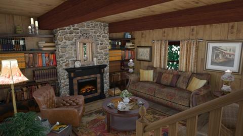 Hideaway - Rustic - Living room  - by Theadora