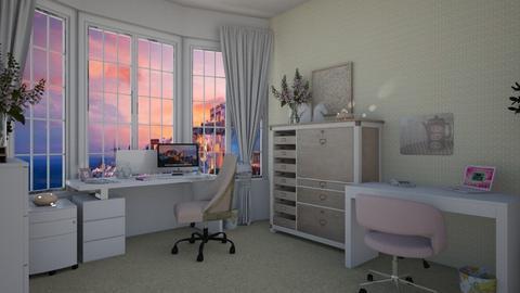 Blurry Office - Modern - Office  - by Irishrose58
