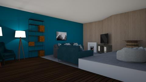Teal Chill - Living room  - by Riordan Simpson