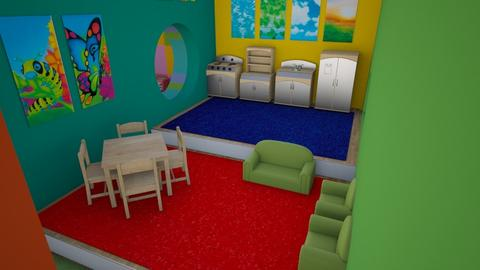 Colorful Inside Play - Eclectic - Kids room  - by Amyz625