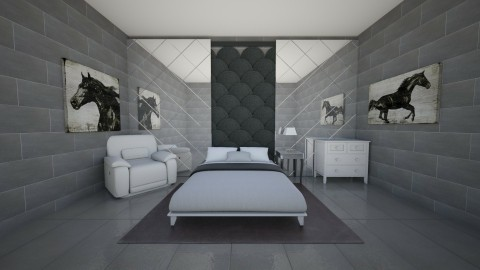 she love horses - Country - Bedroom  - by BlacBree