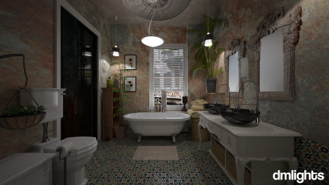 bohomian light - Vintage - Bathroom  - by DMLights-user-982918