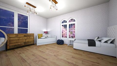 the girls room - Bedroom  - by bintia c