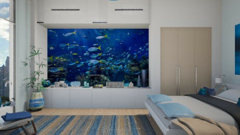 Marine Theme - Bedroom  - by Violetta V