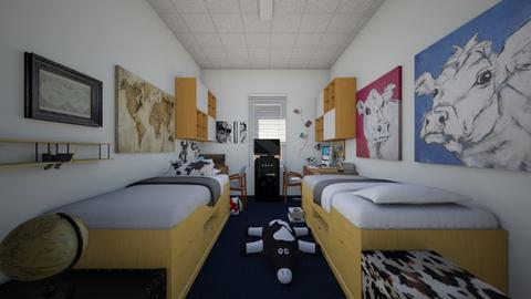 Just another dorm room - Bedroom  - by SammyJPili