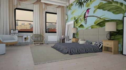 leaf texture - Modern - Bedroom  - by Evangeline_The_Unicorn
