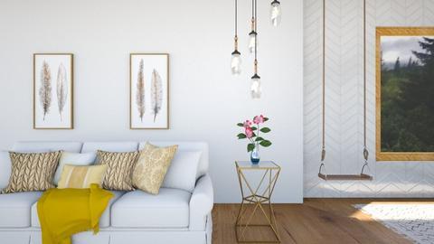 minimal gold - Minimal - Living room  - by Ulcia