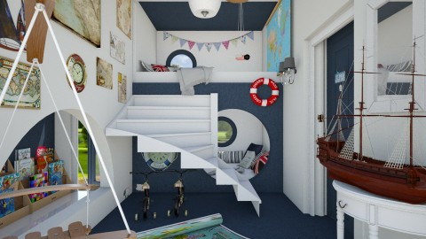 sailor  blue - Kids room  - by Ni NI