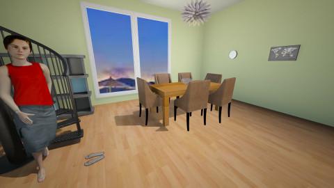 summer  - Modern - Dining room  - by kimiia Sadeghi