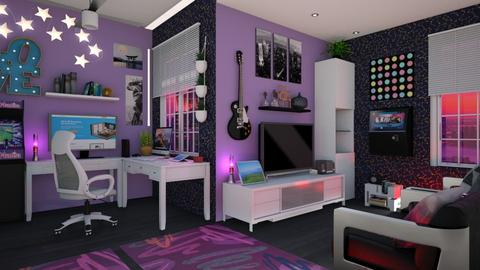 gaming room - Modern - by Slavicdoll