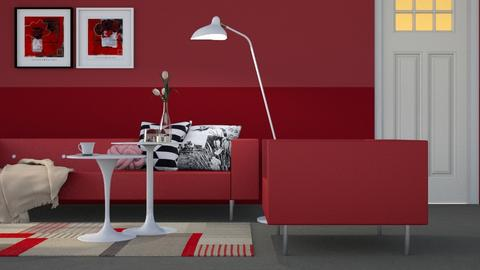 RED RED RED - Modern - Living room - by HenkRetro1960