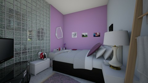 CASA TIPO APARTA - Retro - Bedroom  - by yonfray rojas
