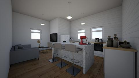 salon  kuchnia  jadalnia - Classic - Kitchen  - by nikirox0