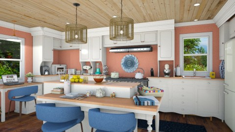 Tree House Kitchen - Rustic - Kitchen  - by karengrant