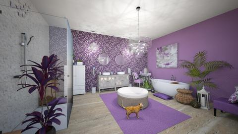 Lavender Bath - Feminine - Bathroom  - by Buffy7