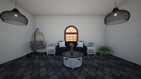 All black living room - Modern - Living room  - by coco fox