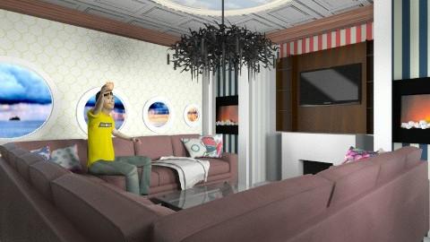 viewing club - Retro - Living room  - by aduropluvia