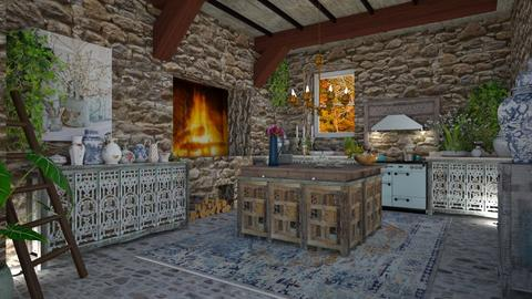 Cabin kitchen - by Maryjo1965