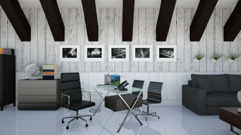 Black - Modern - Office  - by Jenni Leguiza