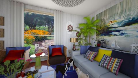 Coastal - Eclectic - Living room  - by clauegarza