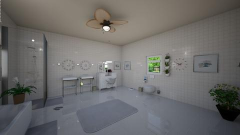 Whiteout Bathroom View 2 - Modern - Bathroom  - by voidance