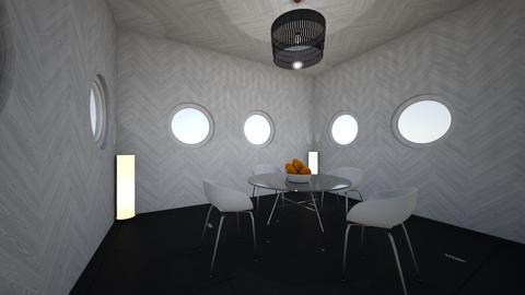 circle dinnning room - Dining room - by Percilla Dyke
