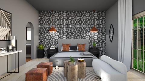 Statement Wall - Bedroom  - by kelseyburgard