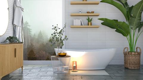 Misty Winter Bathroom - Bathroom  - by aestheticXdesigns