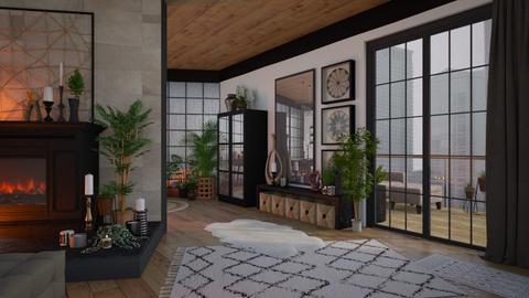 Urban Safari - Global - Living room  - by Brenda DeVries