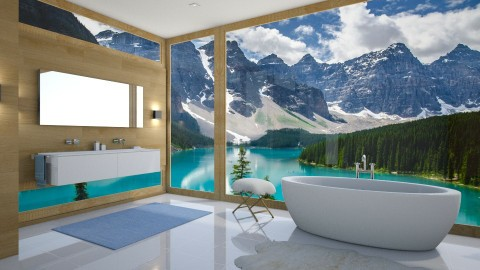 House near the lake - Modern - Bathroom  - by Valeria Nesterova
