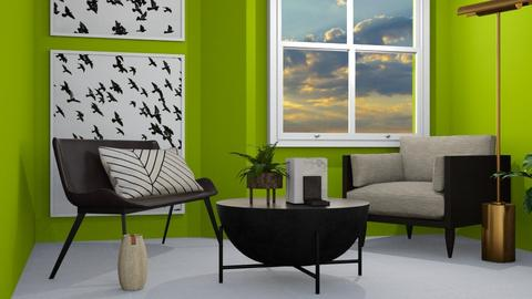 _green_1 - Living room  - by designkitty31