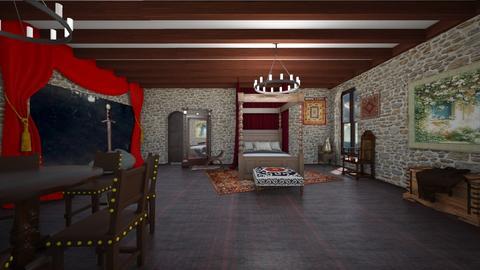 King Arthur Themed Room - Bedroom  - by SammyJPili