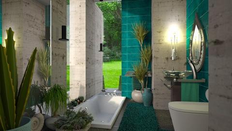 In Ocean color - Modern - Bathroom  - by ZsuzsannaCs