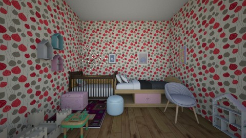 Two Little Princesses - Modern - Kids room  - by deleted_1585942653_Arishka Jha