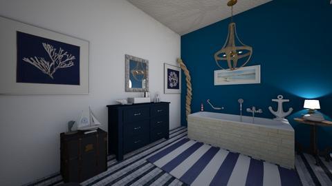 nautical bathroom - Bathroom  - by PeculiarLeah