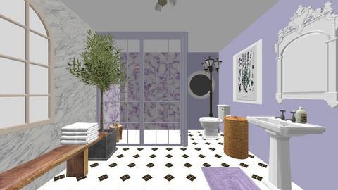 lavender bathR - Bathroom  - by Oliviawin