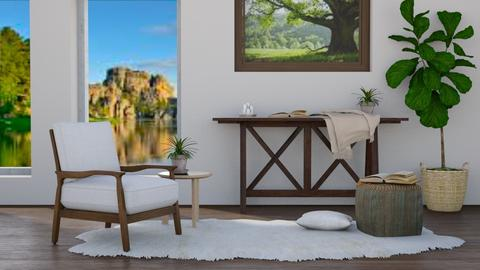At the Lake - Rustic - Living room  - by millerfam
