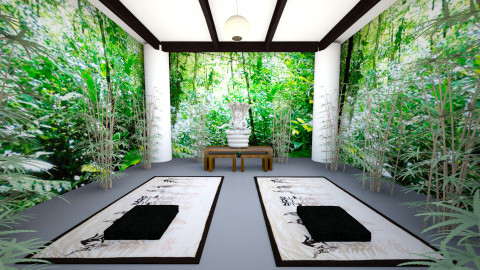 sala de yoga - Classic - Garden  - by Marwa GS