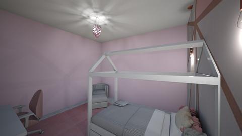 Cute Girls Bedroom - Feminine - Kids room  - by Lambogirl