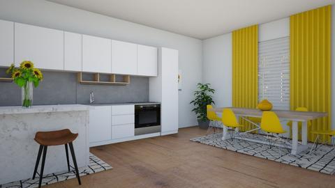 Yellow Kitchen - Kitchen  - by Tanem_Cagla