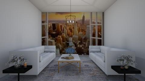 White Luxury  - Living room  - by Designer 10