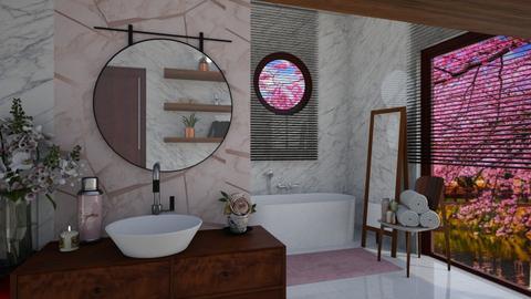 Cherry Blossom Bathroom - Bathroom  - by snjeskasmjeska