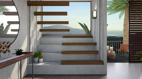 Oak stairs - by Esko123