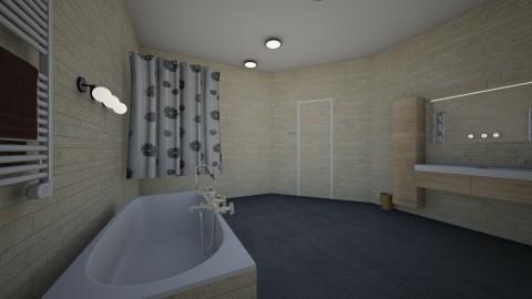 Designer bathroom - Modern - Bathroom  - by Anaherawalkerxoxo