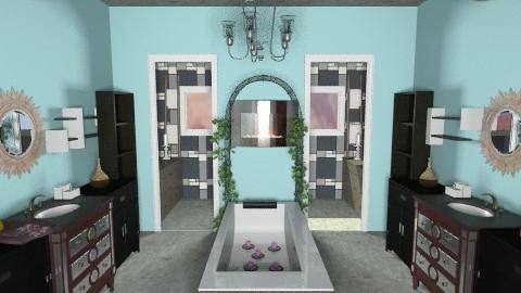 Master Duo Bath - Glamour - Bathroom  - by AshiraLevana