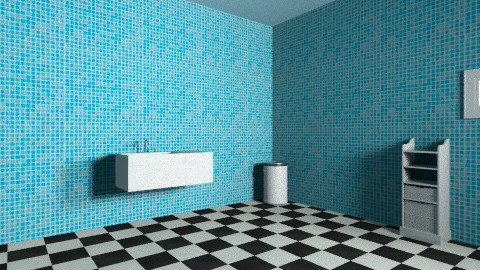 blue - Eclectic - Bathroom  - by rachelli7777