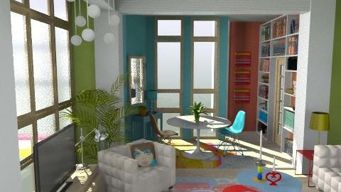 Flower Power - Retro - Living room - by M_Lane