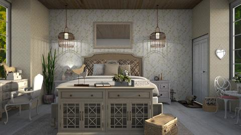 shabby chic guest room - Rustic - Bedroom  - by jjannnii
